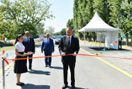 Qaxda avtomobil yolunun açılışı - FOTOLAR
