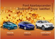 Ford Azərbaycandan Endirimli Payız  təklifləri