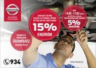 """""""Nissan Azərbaycan""""ın Bütün Servis Xərclərinə 15% Endirim Kampaniyası Sentyabr Ayının Sonunadək Uzadıldı!"""