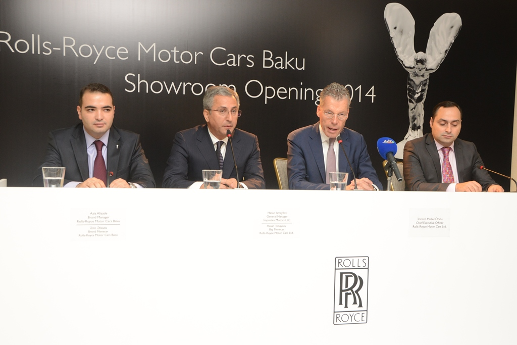 ROLLS-ROYCE OPENS FIRST SHOWROOM IN AZERBAIJAN