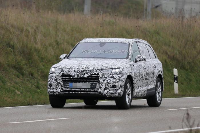 Yeni Audi Q7 2016: ilk gizli fotolar