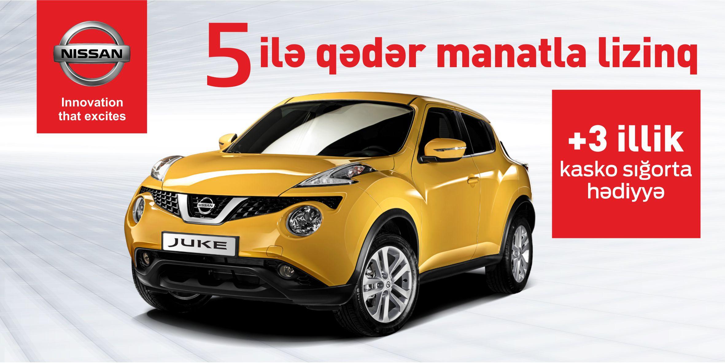 Nissan Juke modeli üçün manatla lizinq kampaniyası!